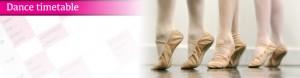 Exeter Ballet class timetable for Joanna Mardon School of Dance header