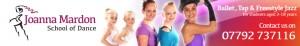 Exeter Dance School - Joanna Mardon School of Dance website header