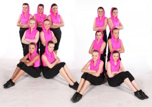 Exeter Jazz/Street class freestyle dancers from Joanna Mardon School of Dance