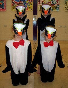 Joanna Mardon Summer School fun with their hand crafted penguin costumes