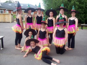 Dancing witches at Joanna Mardon's School of Dance 2012 Summer School, Exeter