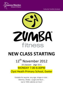 Zumba Classes in Exeter