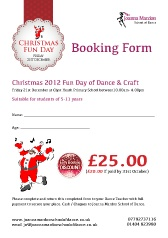 Download your Joanna Mardon School of Dance Christmas Fun Day Booking Form as a pdf