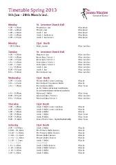 Download the Joanna Mardon School of Dance, Spring 2013 Timetable (pdf)