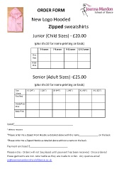 Joanna Mardon School of Dance (Exeter) hooded sweatshirt with zip order form pdf