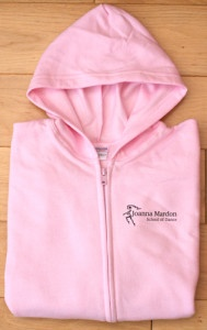 Exeter Ballet School Joanna Mardon School of Dance, Exeter light pink hoodie