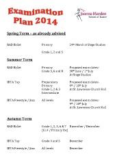 Joanna Mardon School of Dance 2014 Examination Plan pdf download