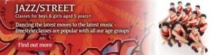 Exeter Jazz street dance homepage header Joanna Mardon School of Dance