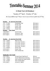 Joanna Mardon School of Dance Summer Timetable pdf download
