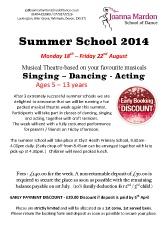 Joanna Mardon School of Dance Summer School 2014 booking form pdf download