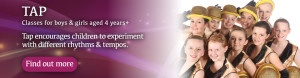Exeter Tap dance classes homepage header Joanna Mardon School of Dance