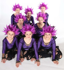 Exeter Jazz dance class students from Joanna Mardon School of Dance