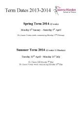 Joanna Mardon School of Dance Term Dates 2013-2014 pdf download