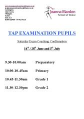 Joanna Mardon School of Dance Tap Exam Saturday Coaching-pdf download