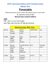 Joanna Mardon School of Dance Tap & Fresstyle Jazz IDTA Exam Timetable July 2014 pdf download