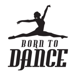 Joanna Mardon School of Dance Born to Dance Show 2015 logo black & white