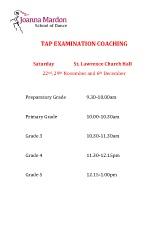 Tap examination coaching Joanna Mardon School of Dance pdf download