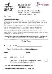 Flesh Show Tights Order Form 2015 Joanna Mardon School of Dance pdf downloa