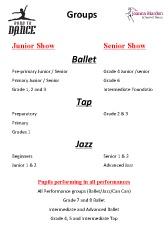 Joanna Mardon School of Dance Born to Dance 2015 Show Groups pdf download