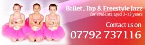 Exeter Ballet Tap & Freestyle Jazz Dance School Joanna School of Dance Devon website header