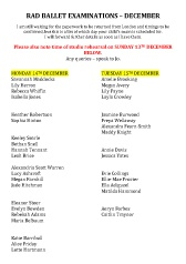 Joanna Mardon School of Dance RAD Ballet Examinations December pdf download