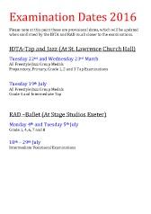 Joanna Mardon School of Dance Examination Dates 2016 download