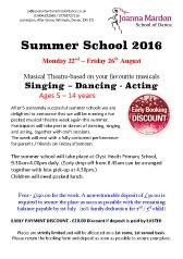 Joanna Mardon School of Dance Summer School Booking Form 2016 download