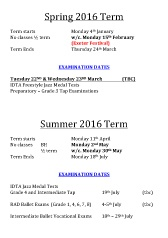 Joanna Mardon School of Dance Term Dates Spring and Summer 2016 download