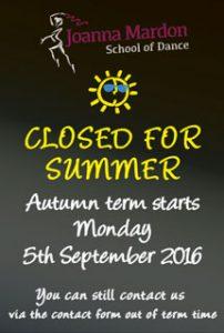 Joanna Mardon School of Dance, Exeter teaching Ballet, Jazz & Tap - Closed for summer - Autumn term starts 4th September 2017