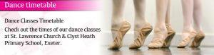 Joanna Mardon School of Dance Exeter Ballet dance timetable