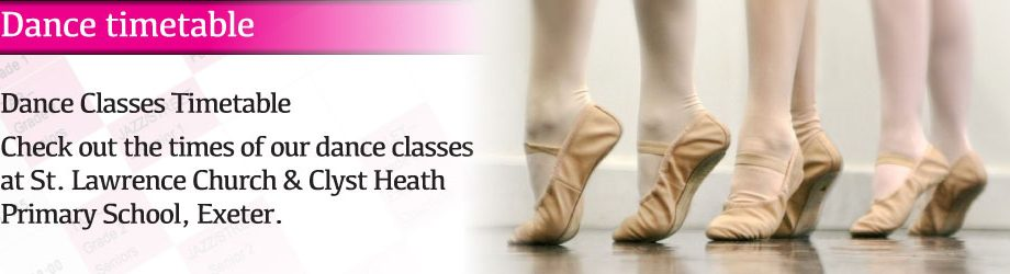 Dance Class Timetable