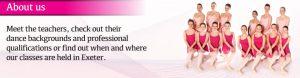 Joanna Mardon School of Dance Exeter ballet school about us