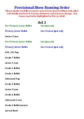 Joanna Mardon School of Dance provisional show running order pdf