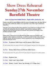 Joanna Mardon School of Dance 2016 show dress rehearsal