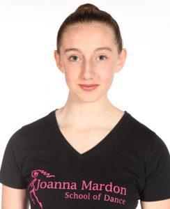 Jessica Yates - Junior Ballet Assistant at Joanna Mardon School of Dance, Exeter, Devon