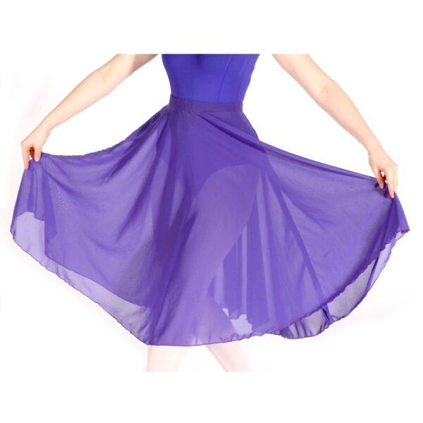 Ballet Grade 6-8 Blue Georgette Skirt Close up Joanna Mardon School of Dance