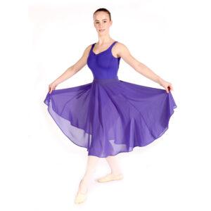 Ballet Grades 6-8 Blue Georgette Skirt Uniform Joanna Mardon School of Dance