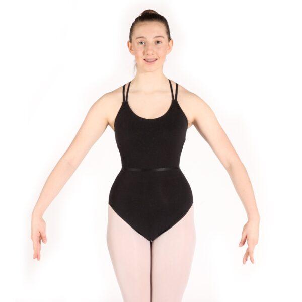 Ballet Vocational Grades Leotard front view Joanna Mardon School of Dance