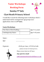 Joanna Mardon School of Dance POM Dance & Contemporary Dance Workshops 9th July 2017 pdf download