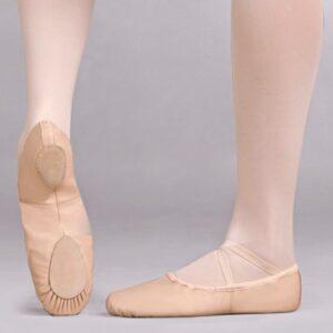 Spit-sole Cobra Leather Ballet Shoe Joanna Mardon School of Dance