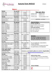Joanna Mardon School of Dance Autumn 2017 Invoice pdf download