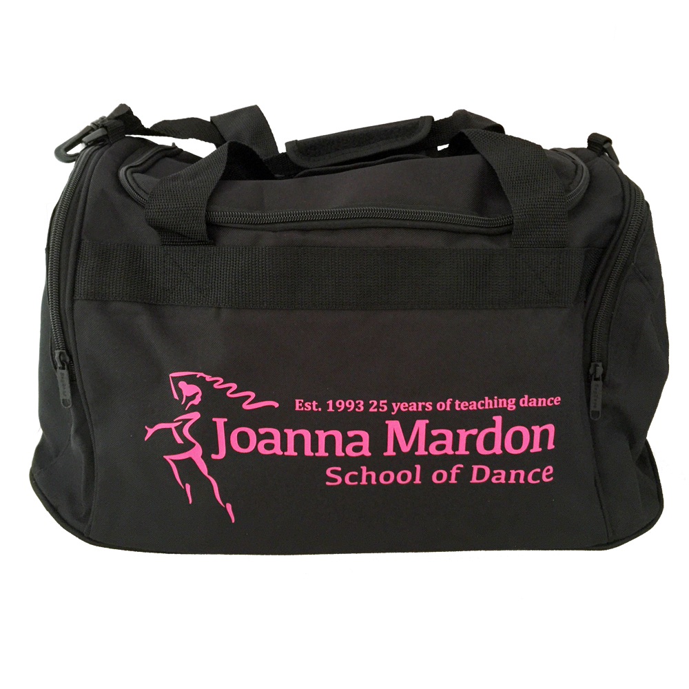 Large Holdall Joanna Mardon School of Dance logo Pink