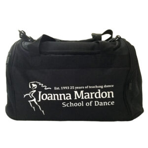 Large Holdall Joanna Mardon School of Dance logo Silver