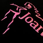 Pink logo close up detail Joanna Mardon School of Dance products