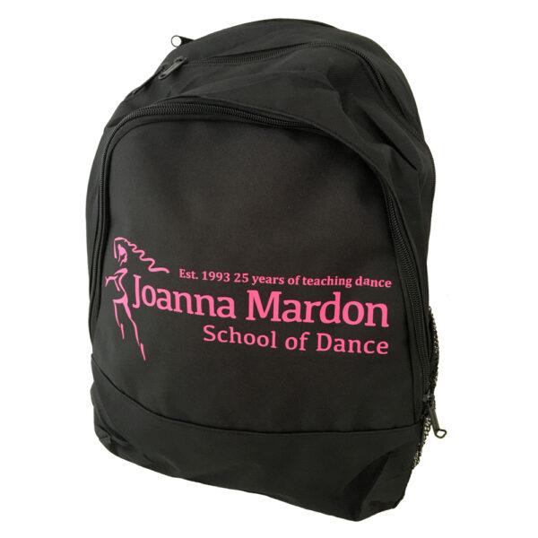 Rucksack Joanna Mardon School of Dance logo Side Pink