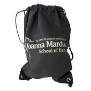 Shoe Bag Joanna Mardon School of Dance logo Silver