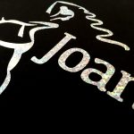 Silver Logo close up detail Joanna Mardon School of Dance products