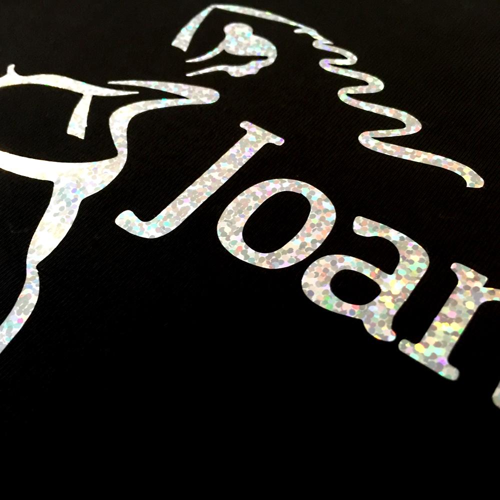 Silver Logo close up detail Joanna Mardon School of Dance products