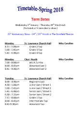 Joanna Mardon School of Dance Spring 2018 Timetable download
