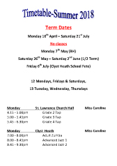 Joanna Mardon School of Dance Summer 2018 Timetable pdf download